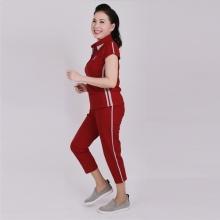 Đồ bộ nữ trung niên quần lửng tay ngắn đỏ - UPAR20R