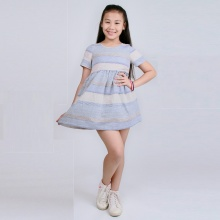 UKID74 - đầm bé gái (sọc)