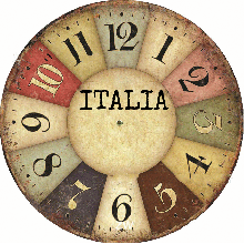 Đồng hồ gỗ tròn tictac - R023 Italia