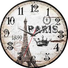 Đồng hồ gỗ tròn tictac - R026 Paris