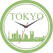 Đồng hồ gỗ tròn tictac - R027 Tokyo