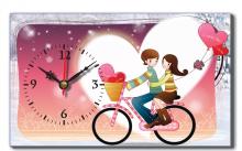 Đồng hồ để bàn Dyvina B1525-10 xe đạp ơi