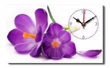 Đồng hồ để bàn Dyvina B1525-46 hoa tím ngày xưa