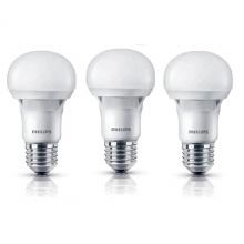 Bộ 3 bóng đèn Philips Ecobright LEDBulb 5-60W E27 3000K A60 (Ánh sáng vàng)