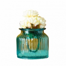Lọ hoa thủy tinh trang trí (Màu xanh E)