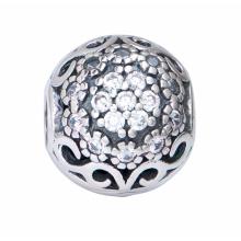 Hạt charm DIY PNJSilver hình tròn giả cổ XMXMK060022