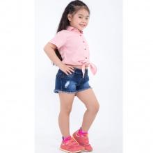 UKID166 - quần short bé gái (xanh)