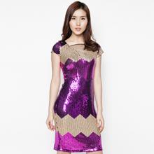 Đầm kim sa dạ tiệc cao cấp - HK 384