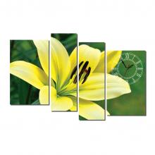 Dyvina 4T-14 đồng hồ tranh Lily vàng