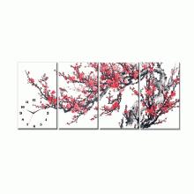 Dyvina 4T3050-1 đồng hồ tranh Hoa đào ngày xuân