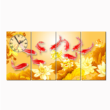 Dyvina 4T3060-5 đồng hồ tranh cữu ngư vàng