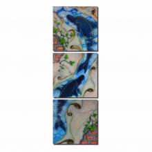 Dyvina 3T3030-22 đồng hồ tranh Cá heo