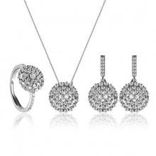 Bộ trang sức bạc Tinna Love - Eropi Jewelry