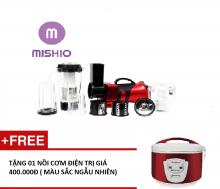 Máy xay cắt đa năng Mishio ( Đỏ đô ) - tặng nồi cơm 1,2L