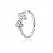 EROPI-Nhẫn bạc Baby Flower