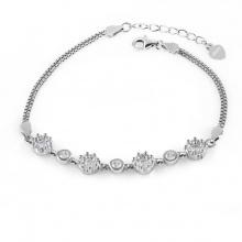 Lắc tay bạc Flower Chain - Eropi Jewelry