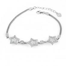 Lắc tay bạc Lucky Star - Eropi Jewelry