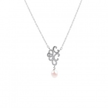 Dây chuyền bạc Pattern Pearl - Eropi Jewelry