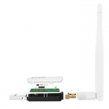 Card mạng Wireless USB, chuẩn B/G/N300Mbps, anten 3.5dbi tháo rời chuẩn 2TR2 Tenda U1