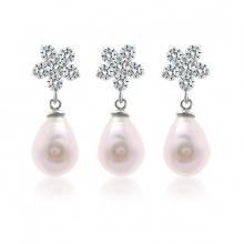Bộ trang sức bạc Ely Flower Pearl - Eropi Jewelry