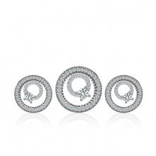 Bộ trang sức bạc Bibob Circle - Eropi Jewelry