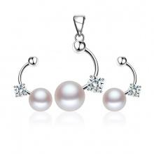 Bộ trang sức bạc ngọc trai You Think - Eropi Jewelry