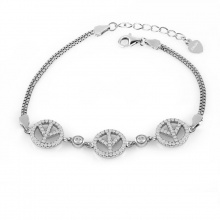 Lắc tay bạc Lucky Love - Eropi Jewelry