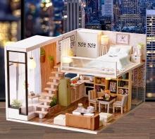 Mô hình gỗ tự lắp ráp DIY Penthouse