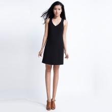 Đầm suông hở vai DRE033 (đen noir)