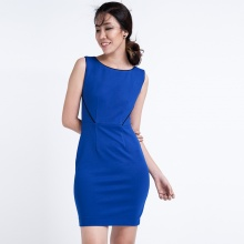 Đầm ôm body sát nách DRE022 (xanh midnight)