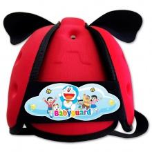 Nón bảo vệ đầu cho bé Babyguard - logo Doraemon 2 đỏ