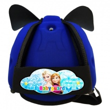 Nón bảo vệ đầu cho bé Babyguard - logo Elsa xanh dương
