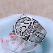 Nhẫn bạc nam handmade size 9 Hadosa