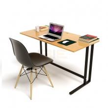 Bộ bàn Oak-U vân gỗ sồi chân đen và ghế Eames chân gỗ đen - IBIE