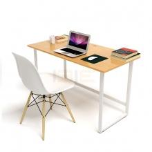 Bộ bàn Oak-F vân gỗ sồi chân trắng và ghế Eames chân gỗ trắng - IBIE