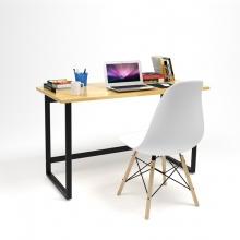 Bộ bàn Rec-F đen 1m2 và ghế Eames trắng - IBIE
