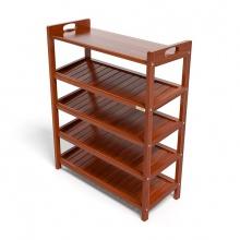 Kệ dép 5 tầng ván IV573 gỗ cao su 73x30x90 cm màu cánh gián