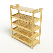 Kệ dép 5 tầng ván IV573 gỗ cao su 73x30x90 cm màu tự nhiên