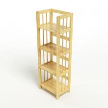 Kệ sách 4 tầng HB440 gỗ cao su màu tự nhiên (40x30x120cm)