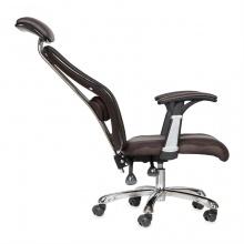 Ghế da IB817GA lưng ngả đa chiều, chân hợp kim nhôm cao cấp màu nâu - IBIE