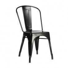 Ghế tựa Tolix lưng cao màu đen - IBIE