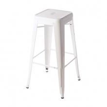 Ghế bar Tolix chân cao màu trắng - IBIE