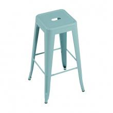 Ghế bar Tolix chân cao màu xanh ngọc - IBIE