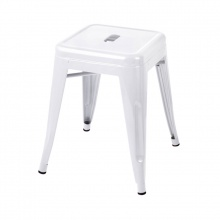 Ghế đôn Tolix chân thấp 45cm màu trắng - IBIE