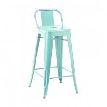 Ghế bar Tolix lưng thấp màu xanh ngọc