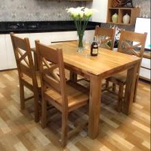 Bộ bàn ăn IBIE 4 ghế Sophia gỗ sồi