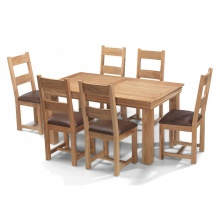 Bộ bàn ăn IBIE 6 ghế Victoria gỗ sồi