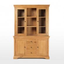 Tủ chén cao IBIE 3 cánh kính Victoria gỗ sồi