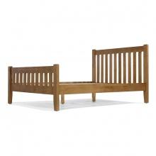 Giường đôi IBIE Rustic gỗ sồi 1m4