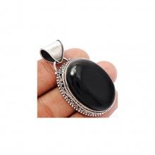 Mặt dây chuyền đá Onyx đen bạc 925 Hadosa